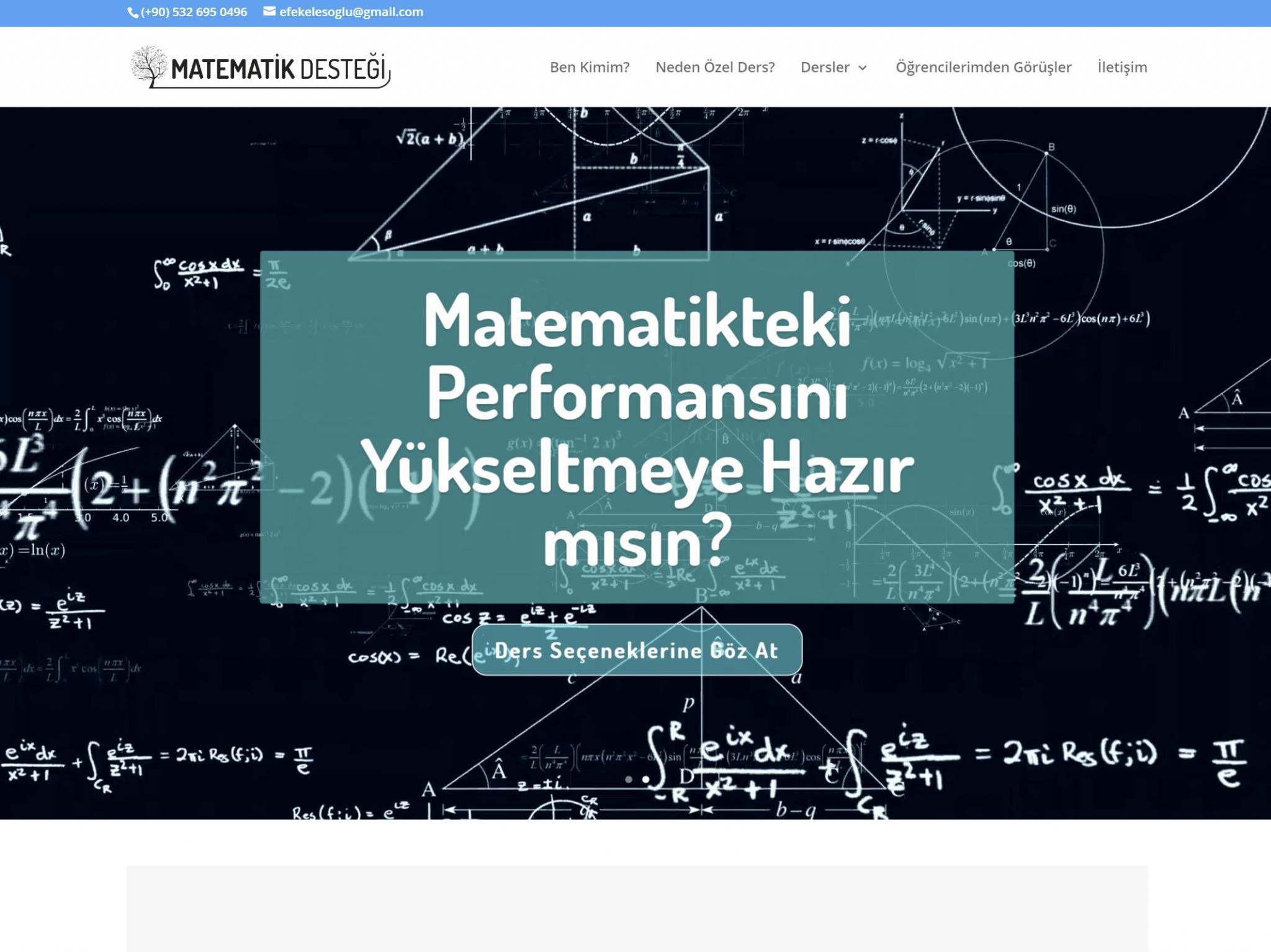 Matematik Desteği Özel Ders Web Sitesi