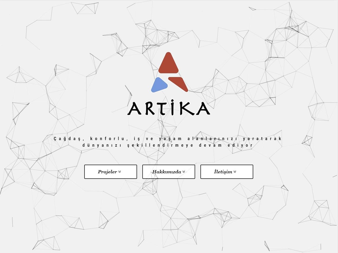 Artika Mimarlık Web Sitesi