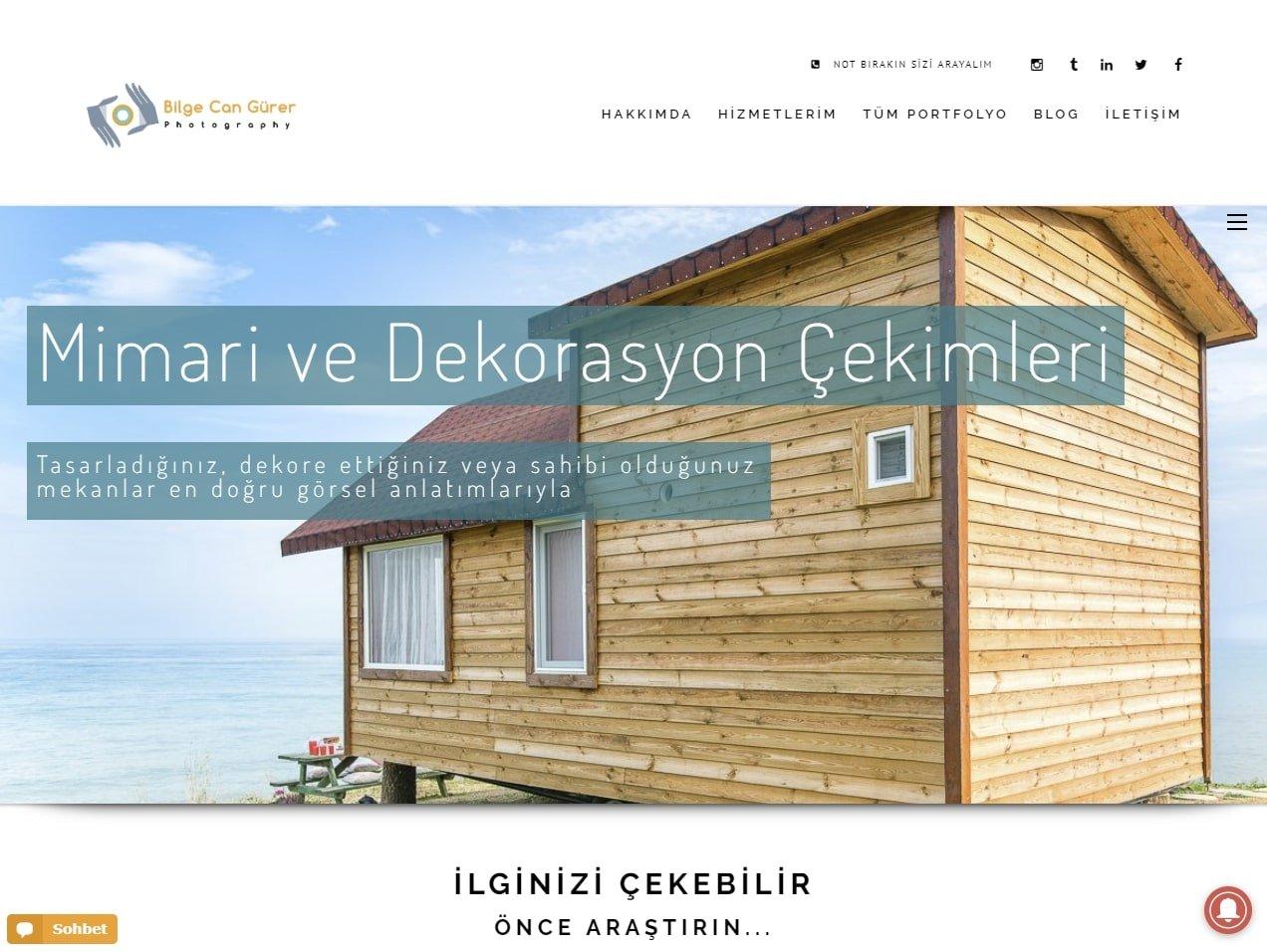 Bilge Can Gürer Profesyonel Web Sitesi