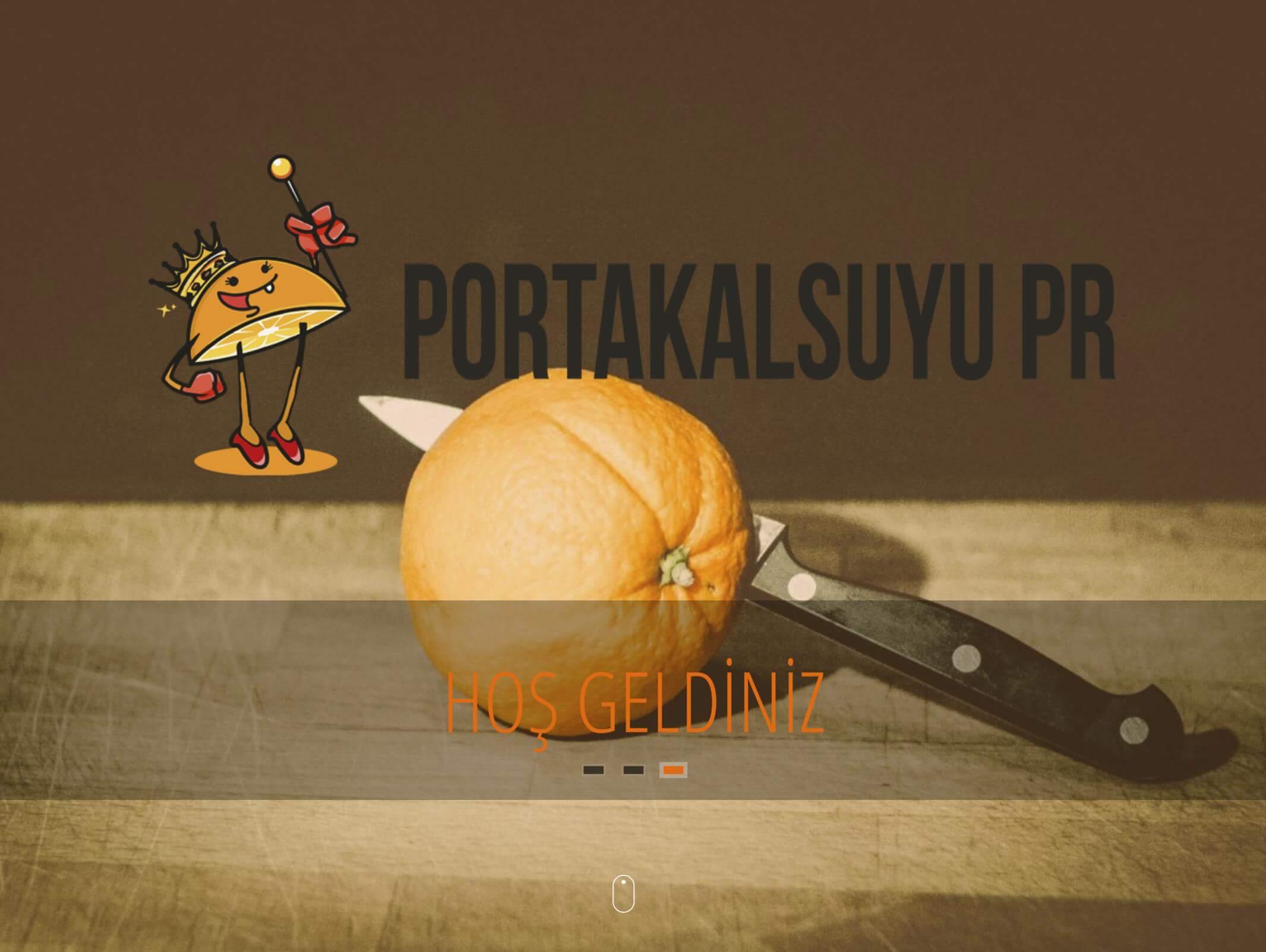 Portakalsuyu PR Ajansı Web Sitesi